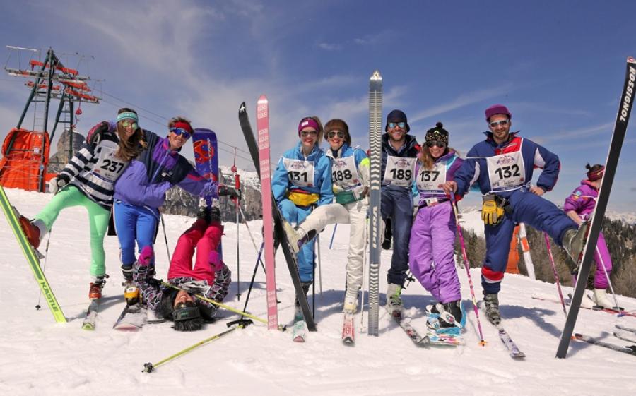Skicarousel Vintage Party per festeggiare la fine della stagione invernale in Alta Badia