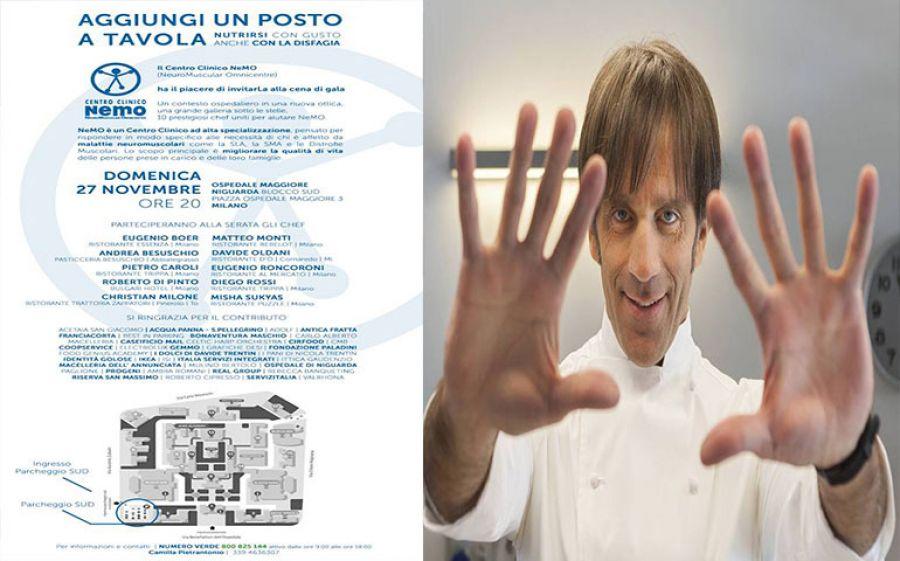 """""""Aggiungi un posto a tavola"""": La cena di gala del Centro Clinico NeMO"""