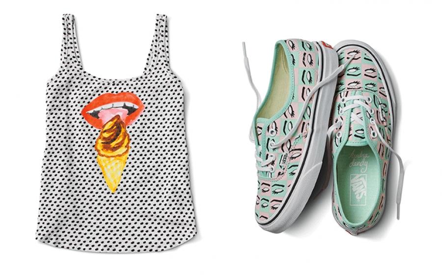 La pop art dell'artista Kendra Dandy arriva nella collezione Vans