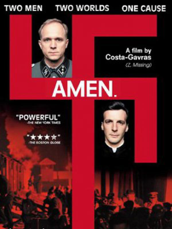 """Amen"" Costa Gavras e Ennio Montesi"