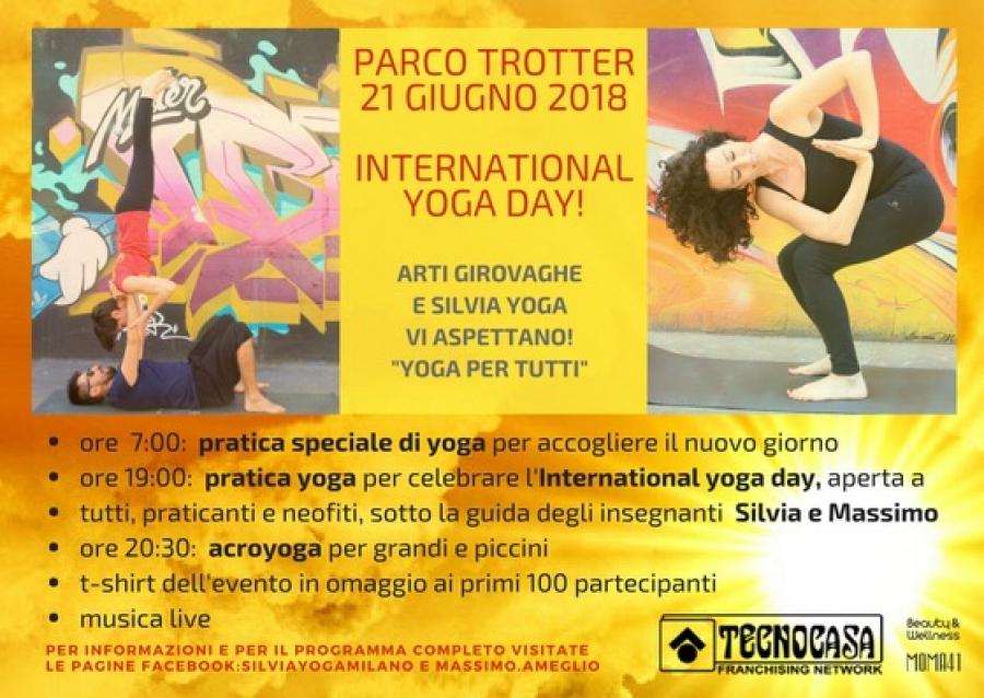 Giornata internazionale dello Yoga al Parco Trotter di Milano