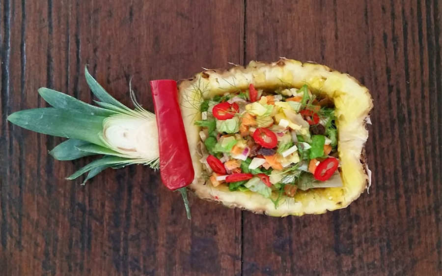 Ricetta dell'insalata agrodolce piccante