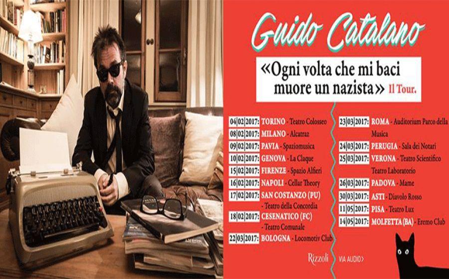"""""""Ogni volta che mi baci muore un nazista"""": il poeta Guido Catalano all'Alcatraz di Milano"""