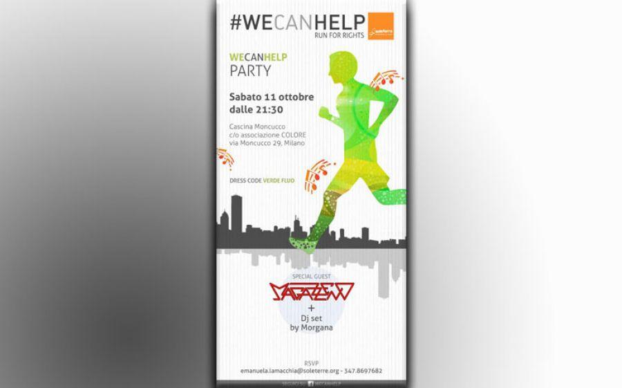 Questa sera partecipa al #WECANHELP Party di Soleterre ONLUS