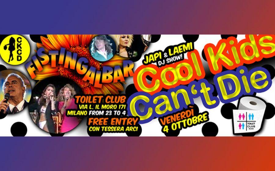 """Cool Kids Can't Die """"Fistingalbar"""":il venerdì del Toilet Club dal 4 ottobre"""