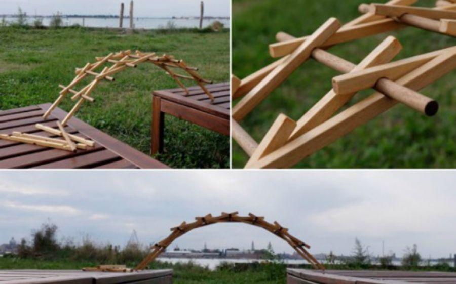 Orsetta Rocchetto e Giorgio Sinapi, Ponte di Leonardo. Gioco formativo e didattico di c ostruzione, legno d'abete