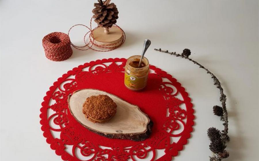 Ricetta di Natale di Bettina in Cucina: Cookies natalizi con fiocchi d'avena, noci pecan e cioccolato fondente