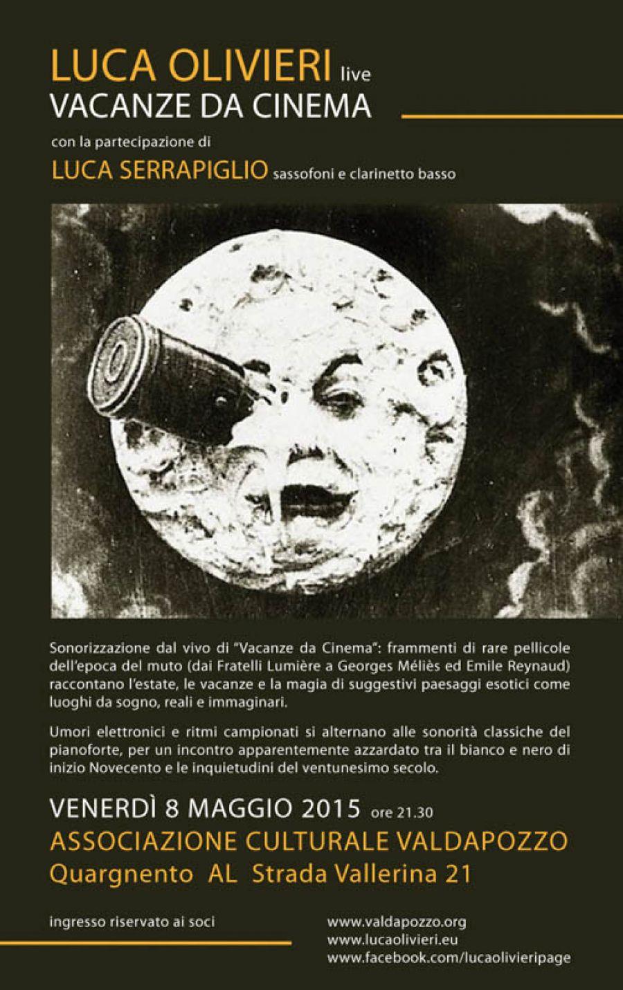"""Venerdì 8 Maggio: sonorizzazione dal vivo di """"Vacanze da Cinema"""""""