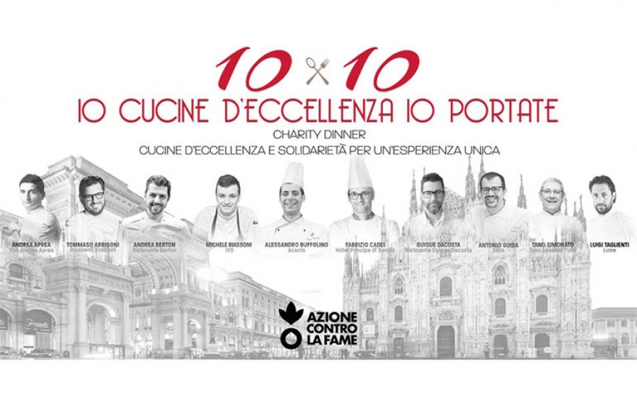 Cena solidale di Azione contro la fame: dieci chef per dieci piatti