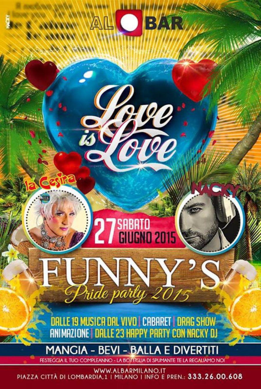27/06: Funny's Love Is Love @ AlBar Milano