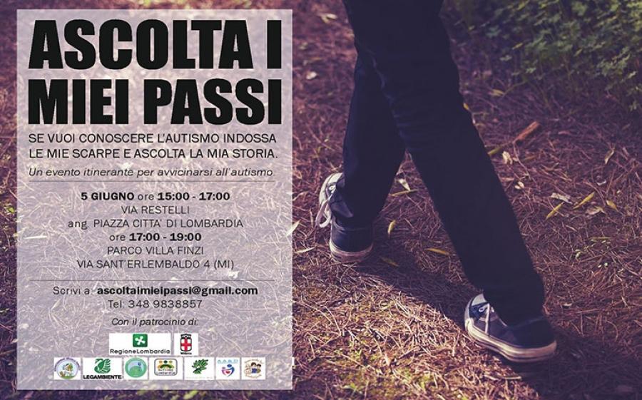 Da domani, 5 giugno, sette appuntamenti a Milano per camminare con le scarpe di chi soffre d'autismo