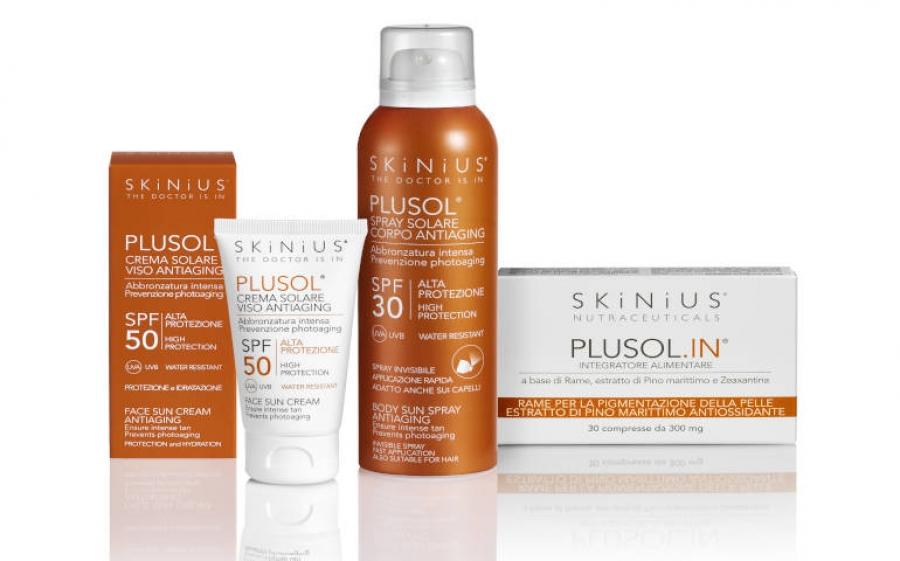Skinius lancia Plusol la linea di protezione solare per cellule felici