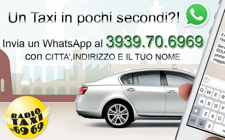 Radiotaxi 6969 si arricchisce del servizio di chiamata e prenotazione di un taxi con WhatsApp