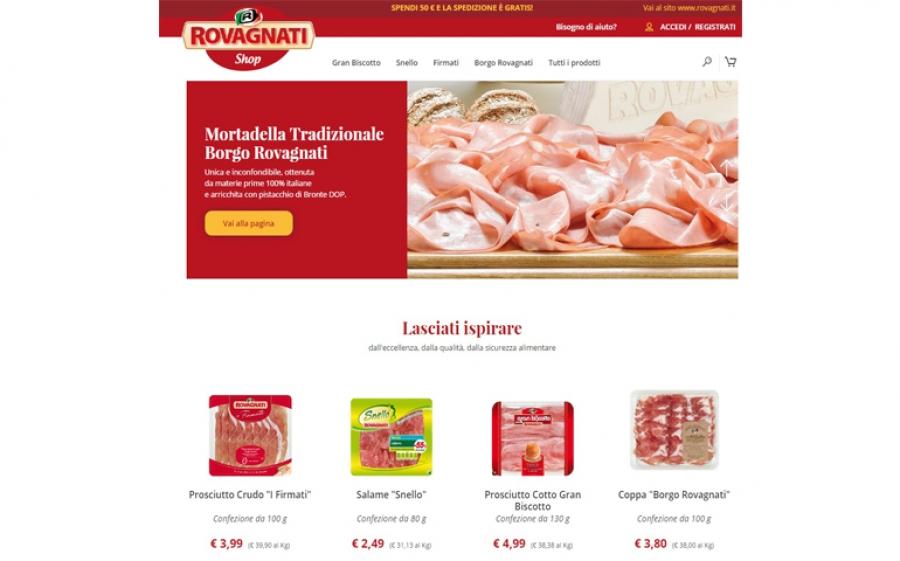 I salumi Rovagnati a portata di click con il primo shop online della ditta