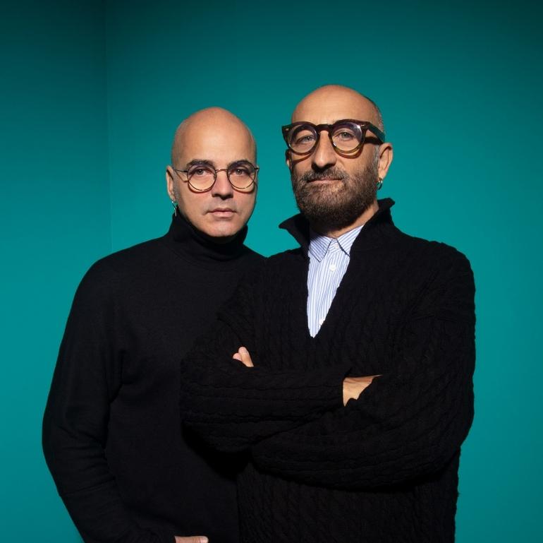 Gli stilisti Maurizio Modica e Pierfrancesco Gigliotti, che insieme hanno ideato MG4Coulture