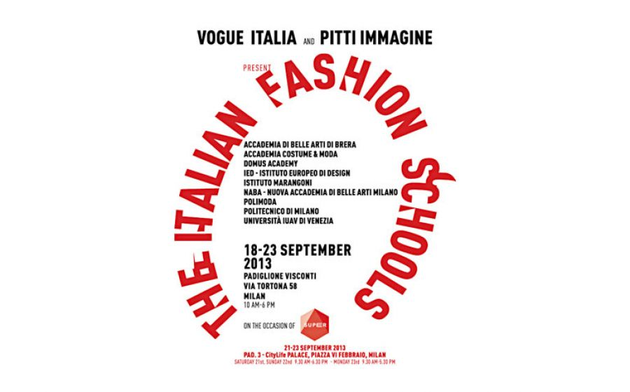 "Vogue Italia e Pitti immagine presentano ""The Italian Fashion Schools"""