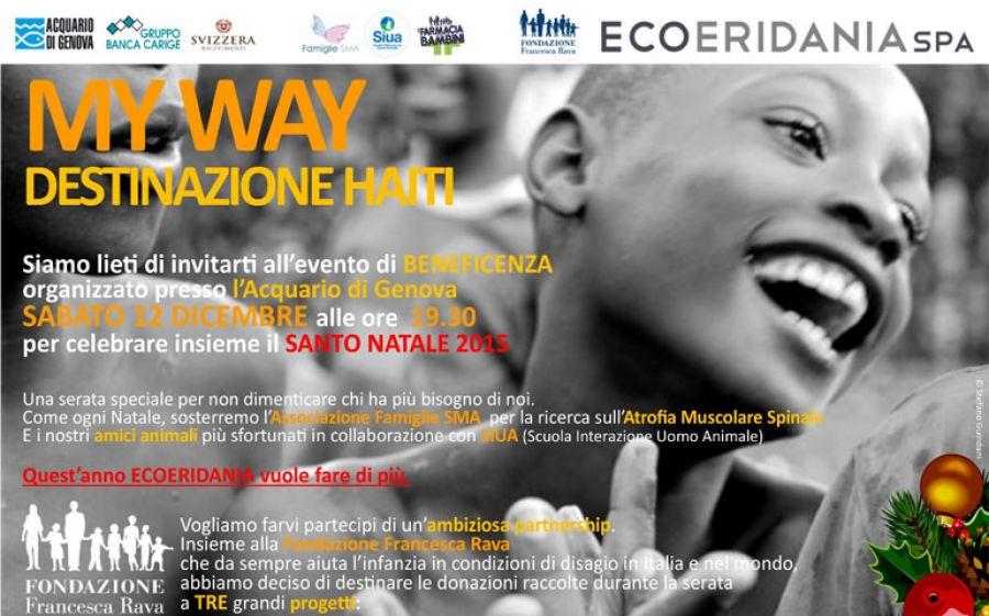 MY WAY - Destinazione Haiti: la beneficenza firmata Ecoeridania