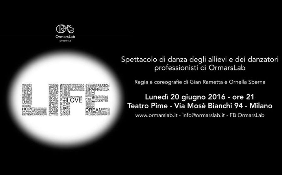 "Al Teatro Pime di Milano, Ormaslab porta ""Life"""