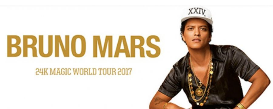 24k Magic World Tour 2017 di Bruno Mars, dal 21 novembre le prevendite