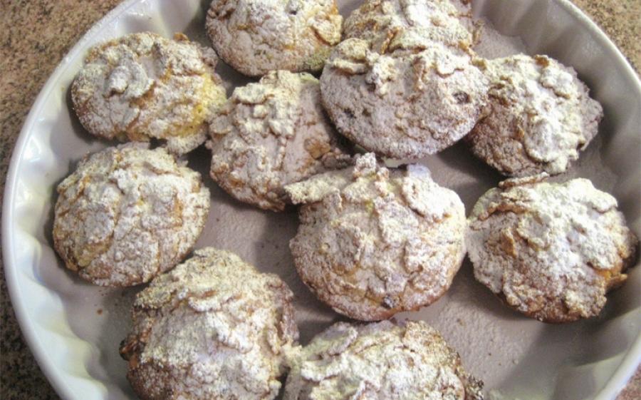 Ricetta biscotti ai corn-flakes e uvetta