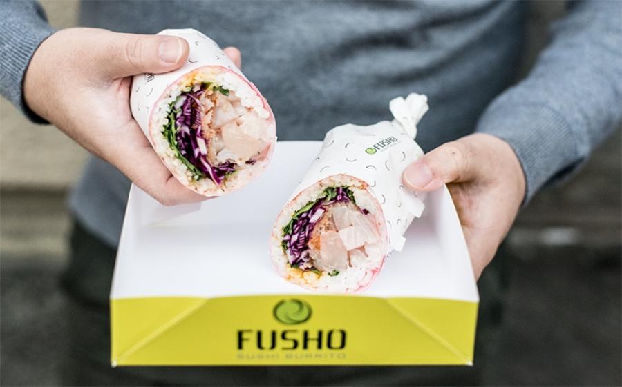 Sushi + burrito = Fusho