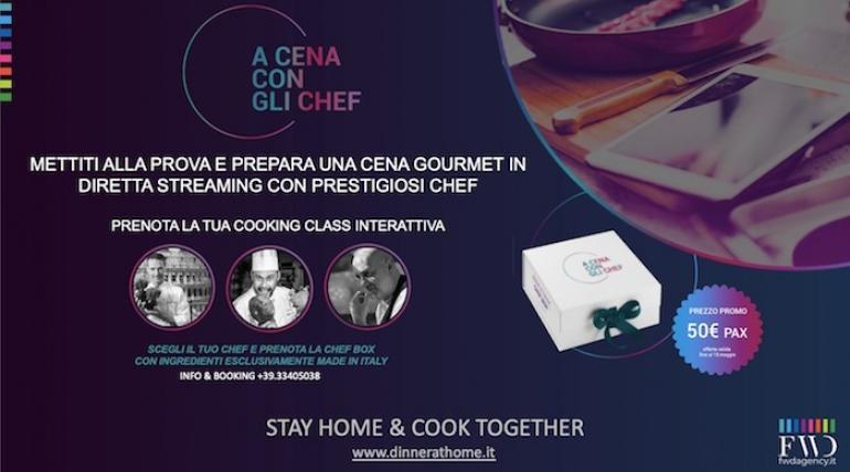 """La prima serata gastronomica virtuale """"A CENA CON GLI CHEF"""""""