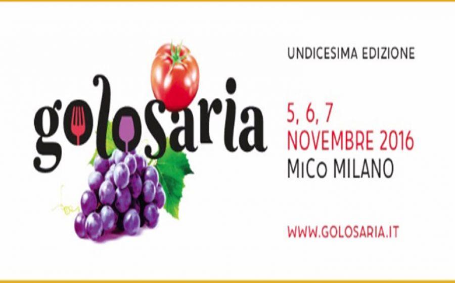 Dal 5 al 7 Novembre Golosaria a Milano