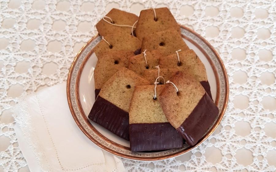Biscotti al te' verde al gelsomino e vaniglia