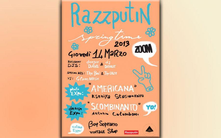 Il giovedì sera allo Zoom con Razzputin è subito primavera