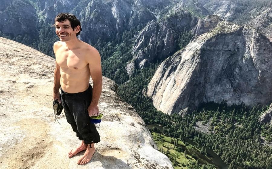 Free Solo: questa sera al cinema l'incredibile arrampicata di Alex Honnold