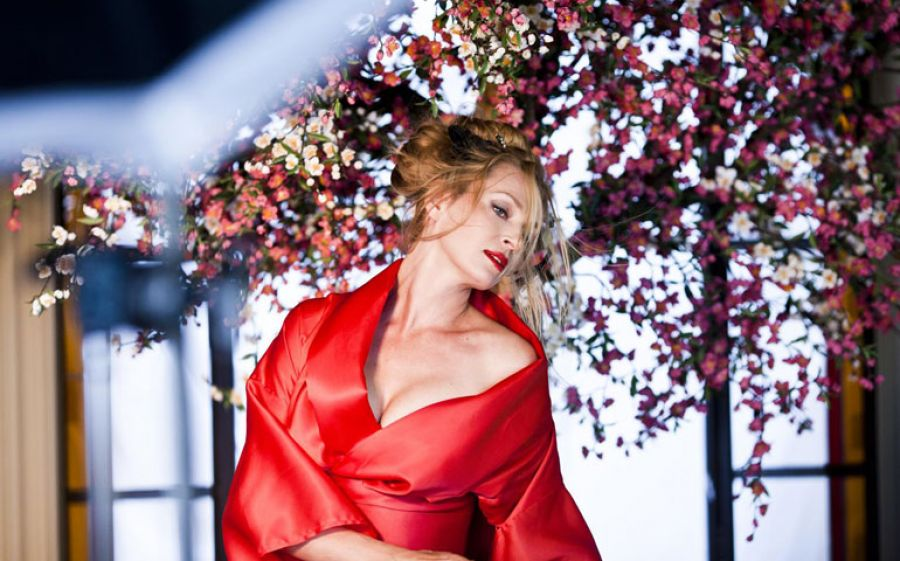 Uma Thurman per il calendario Campari 2014