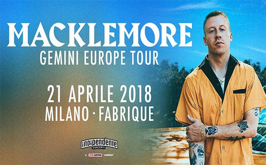 Macklemore, GEMINI TOUR al Fabrique, Mlano.