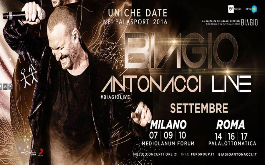 Biagio Antonacci torna a Milano al Mediolanum Forum di Assago