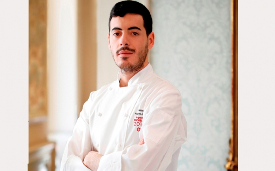 L'executive chef Andrea Asoli