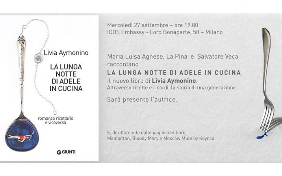 """""""La lunga notte di Adele in cucina"""", Livia Aymonio presenta il suo nuovo libro"""
